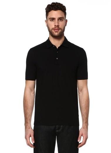 Canali Polo Yaka Tişört Siyah